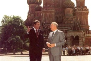 Reagan & Gorbachev at St. Basil's